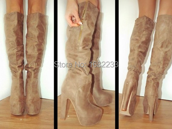 Aliexpress.com : Buy 2015 Spring New Arrival Light Tan Knee High ...