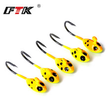 FTK 5PCS/Lot 1.1g 1.4g 1.6g Ice Fishing Hook Lead Head Hooks Jig Mini Metal Bait For Fish