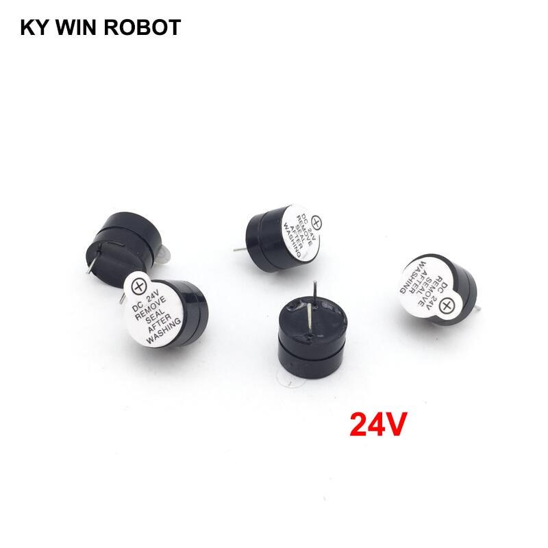 [ Electronic Diy Kit ] 24V Active Buzzer Electromagnetic (SOT Plastic Tube Length Acoustic )(5 Pieces)