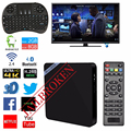 Caja de la TV inteligente MINI M8S II Android6.0 Quad Core Amlogic S905X 2G/16G Wifi Bluetooth 4.0 4 K 100 Mbps LAN 2.4G wifi Totalmente Carga A95X