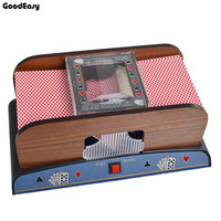 New Entertainment Tool Advanced Casino 1 2 Deck Deluxe Wooden Automatic Poker Card Shuffler Automatic Machine