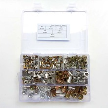 цена на 300Pcs/set M3 M4 M5 M6 M8 M10 Rivet Nuts Zinc Plated Rivnuts mix Aluminum Rivnut  Insert Rivet Multi Size Kit