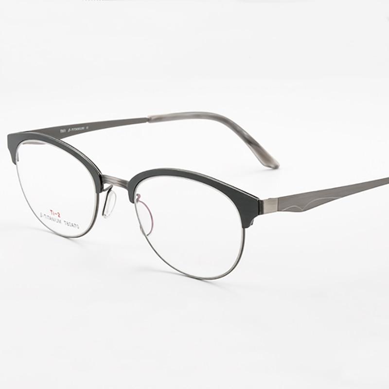 a169fd3d9c Qj titanium glasses frame women brand designer female vintage round  prescription eyeglasses full myopia optical frames eyewear