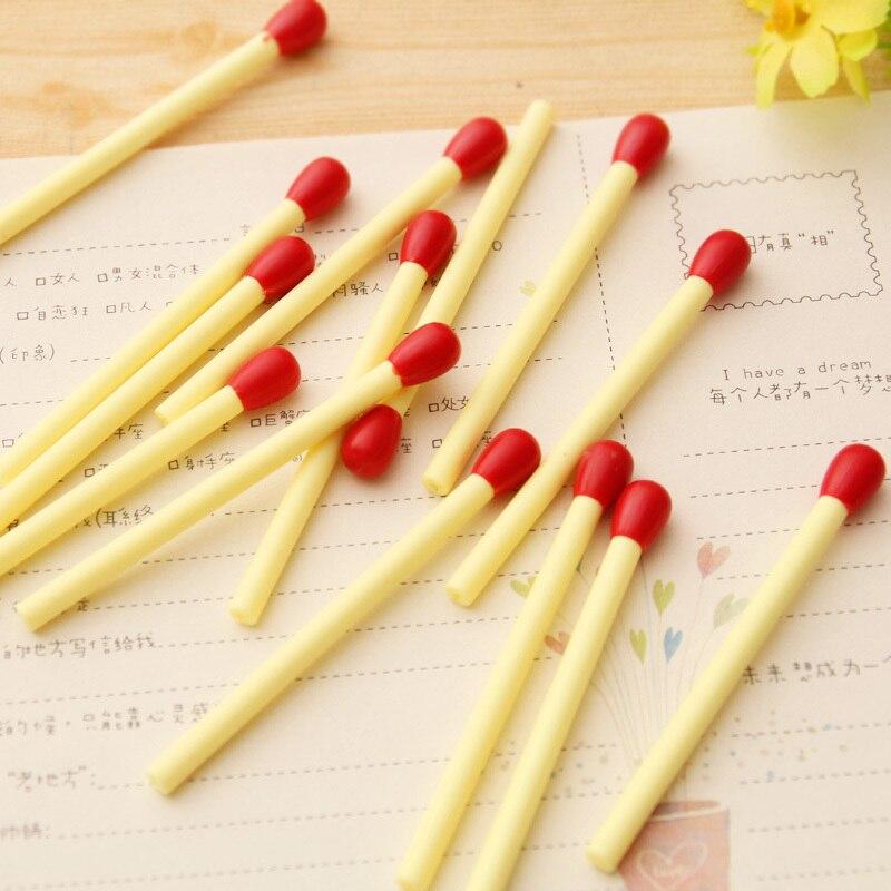5 PCS New Novelty Lovely Matchstick Ballpoint Pen Mini Pens Kawaii Stationery Canetas Escolar Material Supplies Papelaria