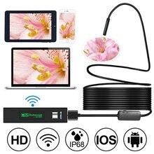 Mini kamera wifi HD 1200 P IP68 pół sztywne rury endoskop bezprzewodowy Wifi boroskop inspekcja wideo dla systemu Android/ z systemem iOS