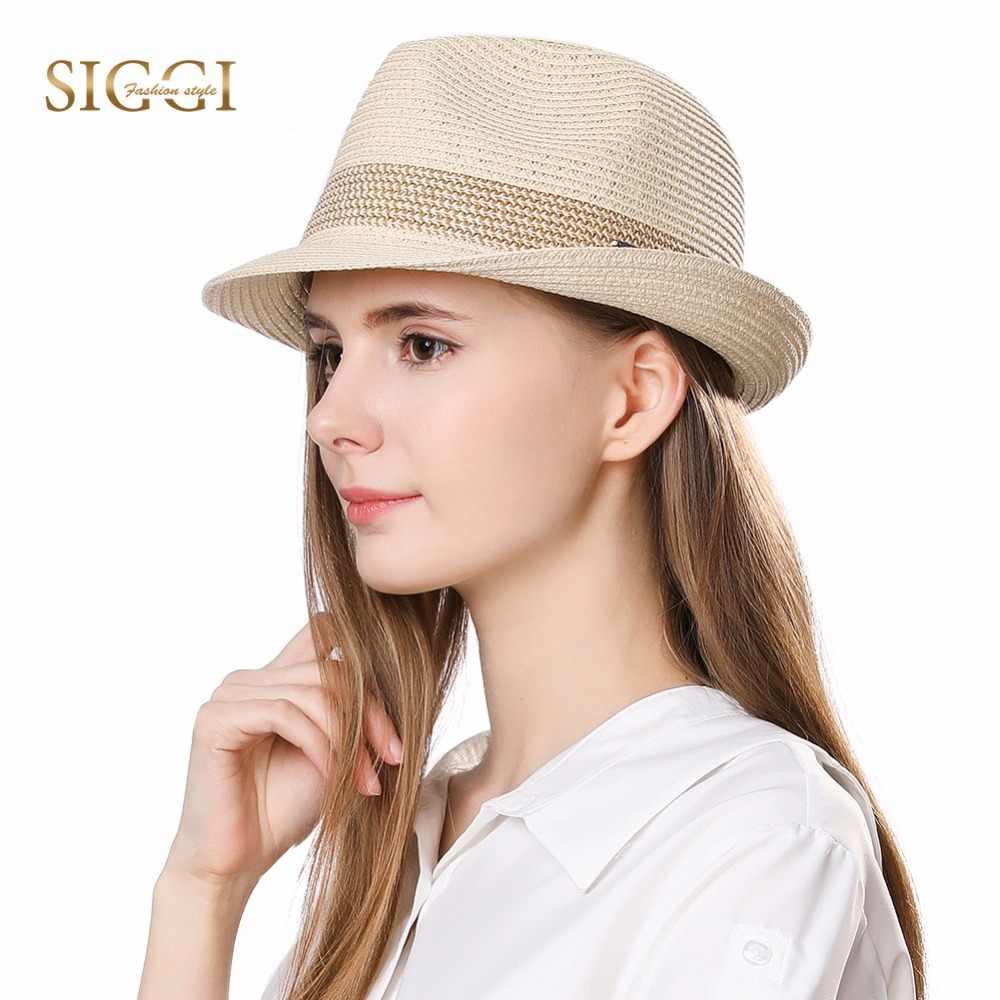a34159e7dc9 FANCET Summer Womens Mens Straw Hats Short Brim Adjustable Packable Soft Beach  Sun Hats Casual Trilby