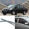 4pcs Blade Side Windows Deflectors Door Sun Visor Shield For Nissan SUNNY 2011-2013