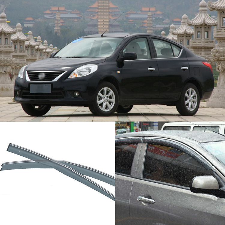 Jinke 4pcs Blade Side Windows Deflectors Door Sun Visor Shield For Nissan SUNNY 2011-2013 jinke 4pcs blade side windows deflectors door sun visor shield for peugeot 408 2010 2013