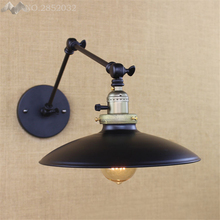 LFH Post Modern new  Vintage Loft Metal Double Heads Wall Light Retro Brass Wall Lamp Country Style E27 Edison Sconce Fixtures