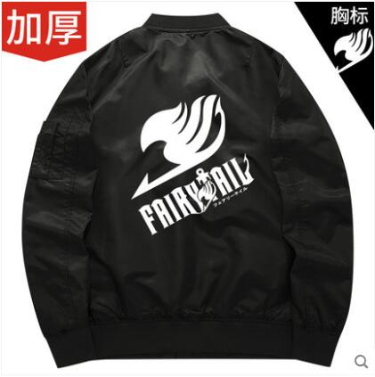 Anime fairy tail 2018 autumn fashion casual male personality Sweatshirts thick long-sleeved baseball uniform