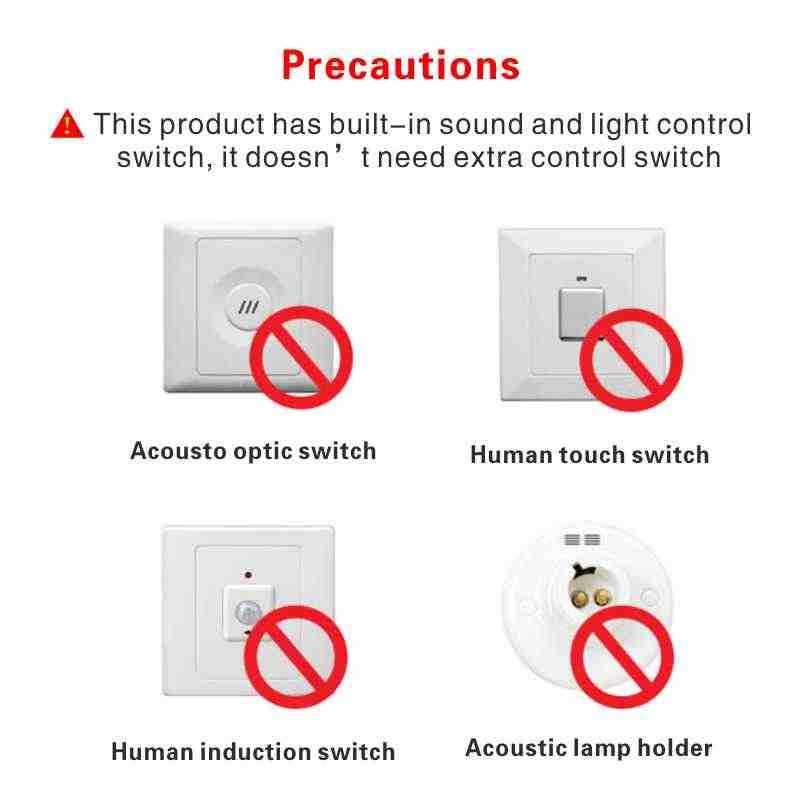 LAN MU Светодиодный PIR датчик движения лампа 3 Вт 5 Вт 220 В светодиодный светильник 7 Вт 9 Вт 12 Вт звук + светильник автоматический умный датчик управления Светодиодный светильник