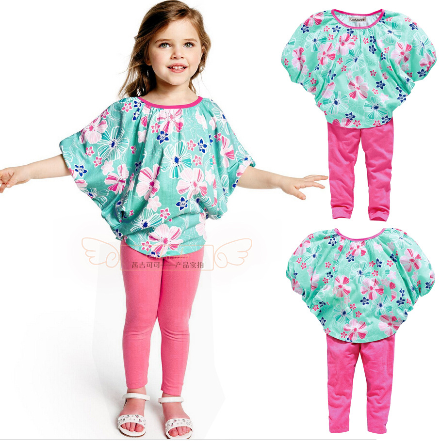 2016 New Fashion Baby Girls Clothing Set Kids Clothes