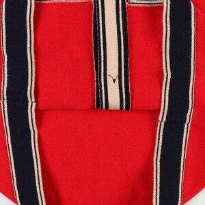Image 5 - Mulheres De Longo Cardigan 2019 Runway Designer V neck Único Breasted Bolsos Vermelho Cardigan Oversized Sweater Casaco de Malha Outwear