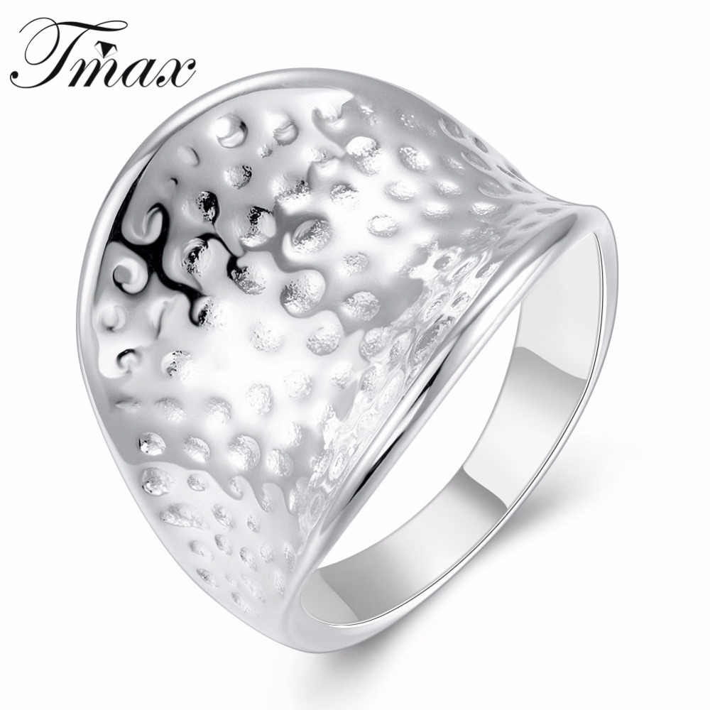 New Design Large Thumb Rings Wholesale Silver Plated Trendy Simple ...