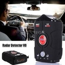 DHL 20 шт Профессиональный светодиодный Дисплей V8 автомобиля Антирадары 360 градусов Россия/английский голосового оповещение, предупреждение Антирадары s