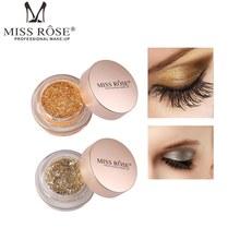 MISS ROSE Glitter Eyeshadow Palette Shimmer Metallic Eye Shadow Women Beauty Eyes Makeup Cosmetics Highlighter Make Up