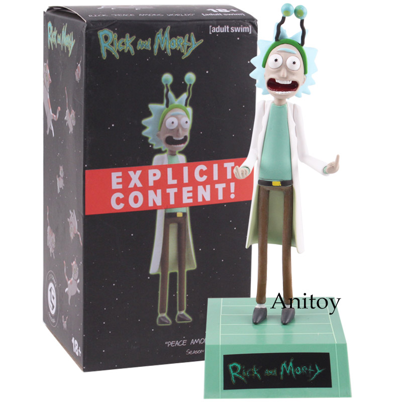 Rick and Morty Action Figure Rick Sanchez Peace Among Worlds Rick and Morty Figure Doll Toy for Children 14.5cm