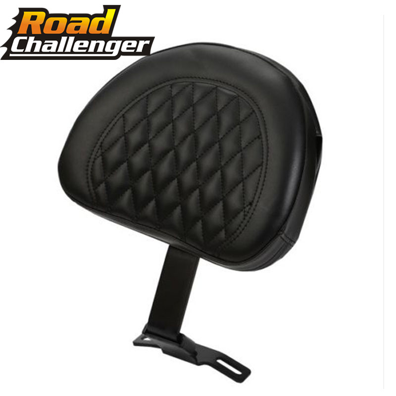 For Harley  07-17 08 09 10 11 12 13 Fatboy FLSTF Heritage Softail Adjustable Plug In Driver Rider Seat Backrest Cushion Pad Kit