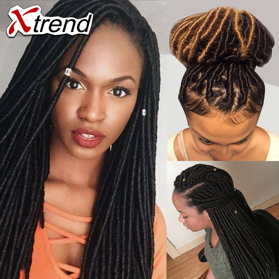 18 24roots Faux Locs Crochet Hair Synthetic Dreadlocks