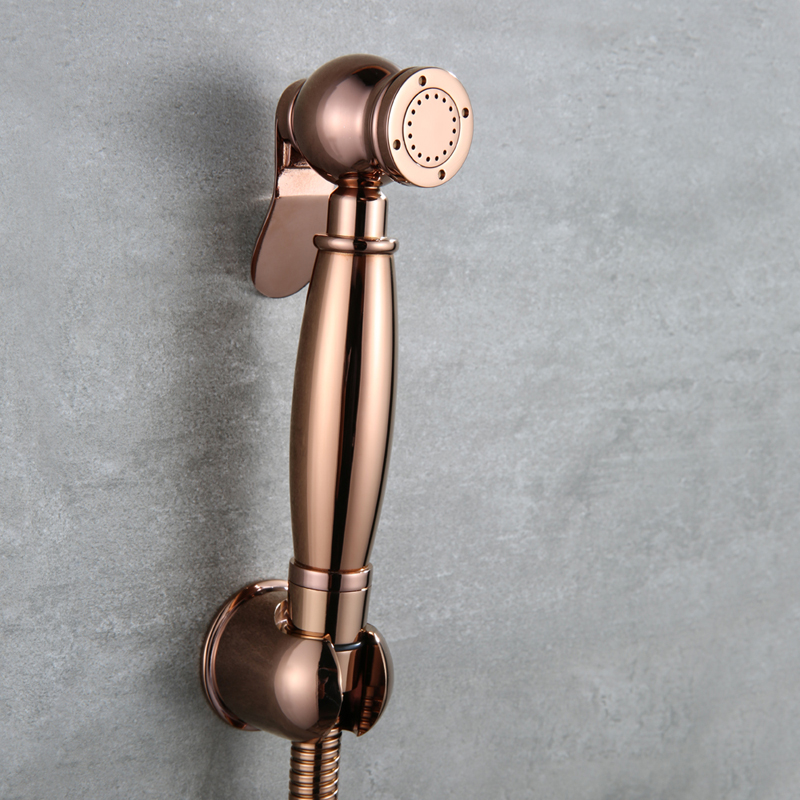 Rose gold Toilet Brass Hand Held Bidet Spray Shower Head Douche Kit shattaf Bathroom Bidet sprayer Jet Tap & Brass Holder & hose 65 inch touch screen windows i3 floor stand kiosk digital signage advertisement player for photo booth totem