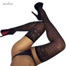 Glittering Flickering Stocking Tights Night Club Dress Sexy Woman Thigh Hold Up Lace Top Shinning Pantyhose