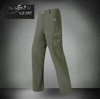 Shark Skin Soft Shell Pant Waterproof Windproof Fleece Outdoor Pants Color Optional Free Shipping SKU12050426