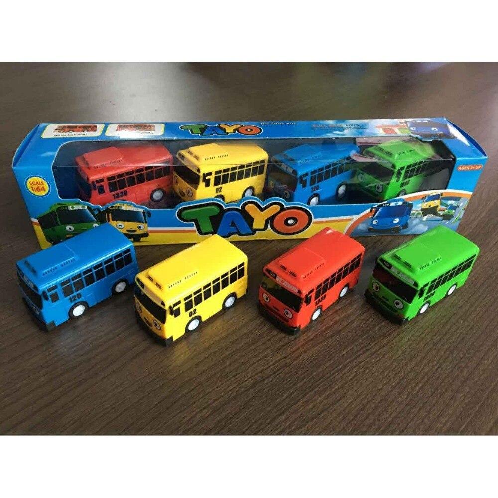 4 Teilesatz Kleine Auto Koreanische Cartoon Tayo Die Wenig Bus