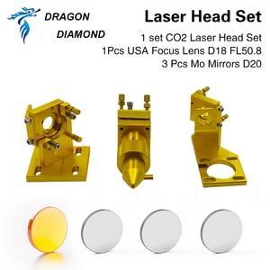 Image 3 - K40 series: CO2 Laser Head Set Laser Engraver for 2030 4060 K40 Laser Engraving Cutting Machine