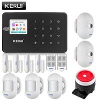 KERUI W18 1,7 дюймовый TFT цветной экран длительным временем ожидания Беспроводная Аварийная сигнализация wifi gsm домашняя охранная сигнализация