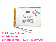 357095 3.7V 3000MAH  (polymer lithium ion Battery Replacement Tablet Battery for tablet pc 7 inch MP3 MP4