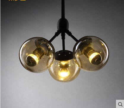 Nordic America Vintage Industrial Pendant Light With 3 lights in style Loft Magic Glass Lampshade Lamparas Hanglamp democracy in america nce