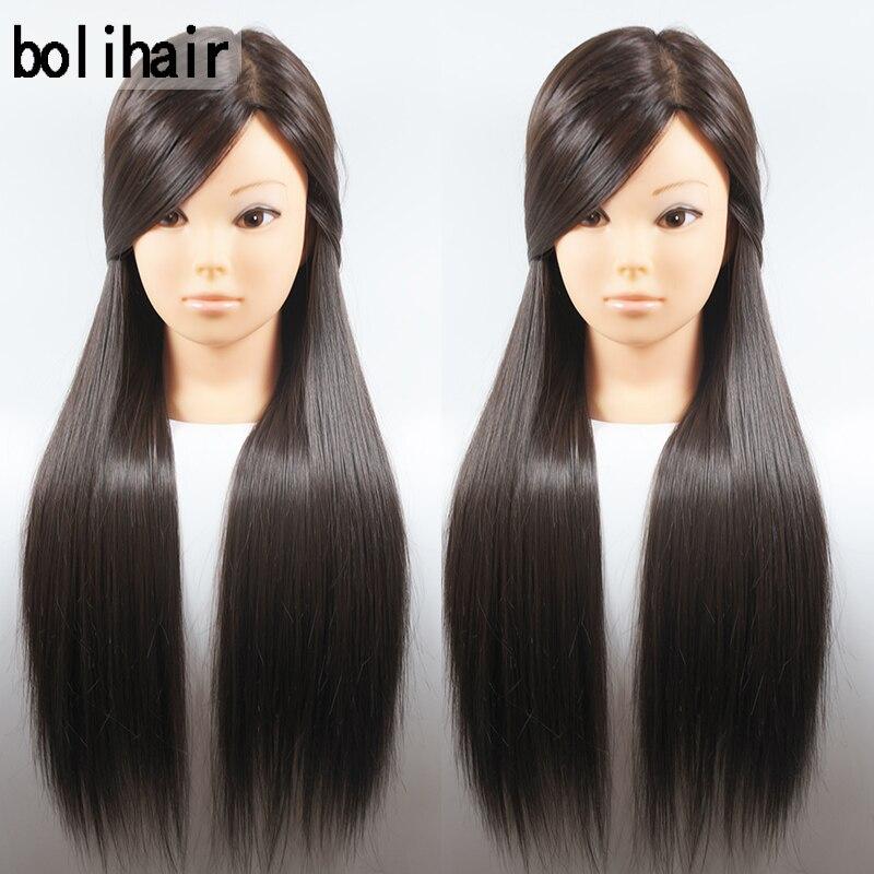 2017 Nouveau 26 pouce Cheveux Coiffure Mannequin Head Brown Coiffure Pour Coiffeur Mannequin Mannequins Cheveux Pour Vente Formation Tête