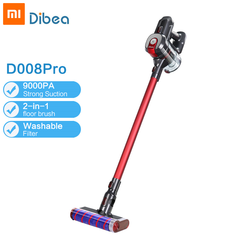 Dibea D008 Pro Handheld Wireless Vacuum Cleaner Portable Cordless Strong Suction aspirador Home Carpet cyclone Dust