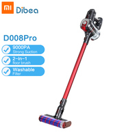 Dibea D008 Pro Handheld Wireless Vacuum Cleaner Portable Cordless Strong Suction aspirador Home Carpet cyclone Dust Collector