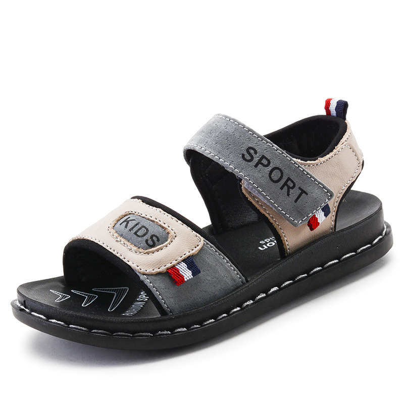 NEW 2018 Children Beach Shoes Summer Genuine Leather Boys Sandals Fashion Sports Casual For Littler & Big Kids Size 26-37
