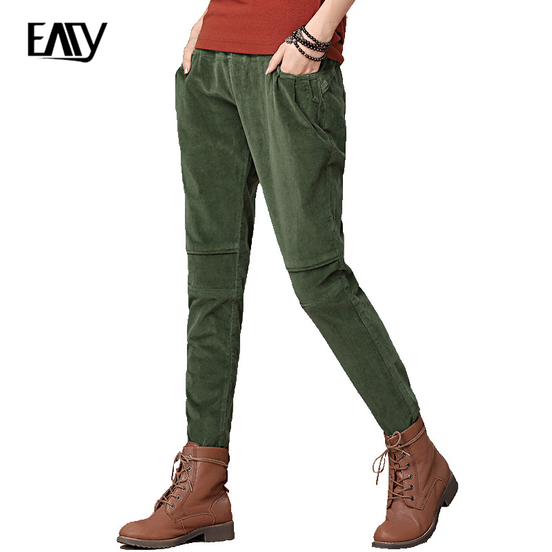 Womens Green Corduroy Pants Promotion-Shop for Promotional Womens ...