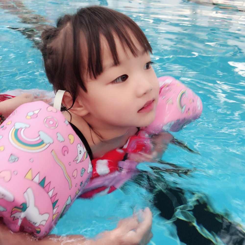Детские дети спасательный жилет единорог фламинго и ананасы нарукавник плавающий детский безопасный плавательный круг аксессуары для бассейна игрушки надувной матрас boias