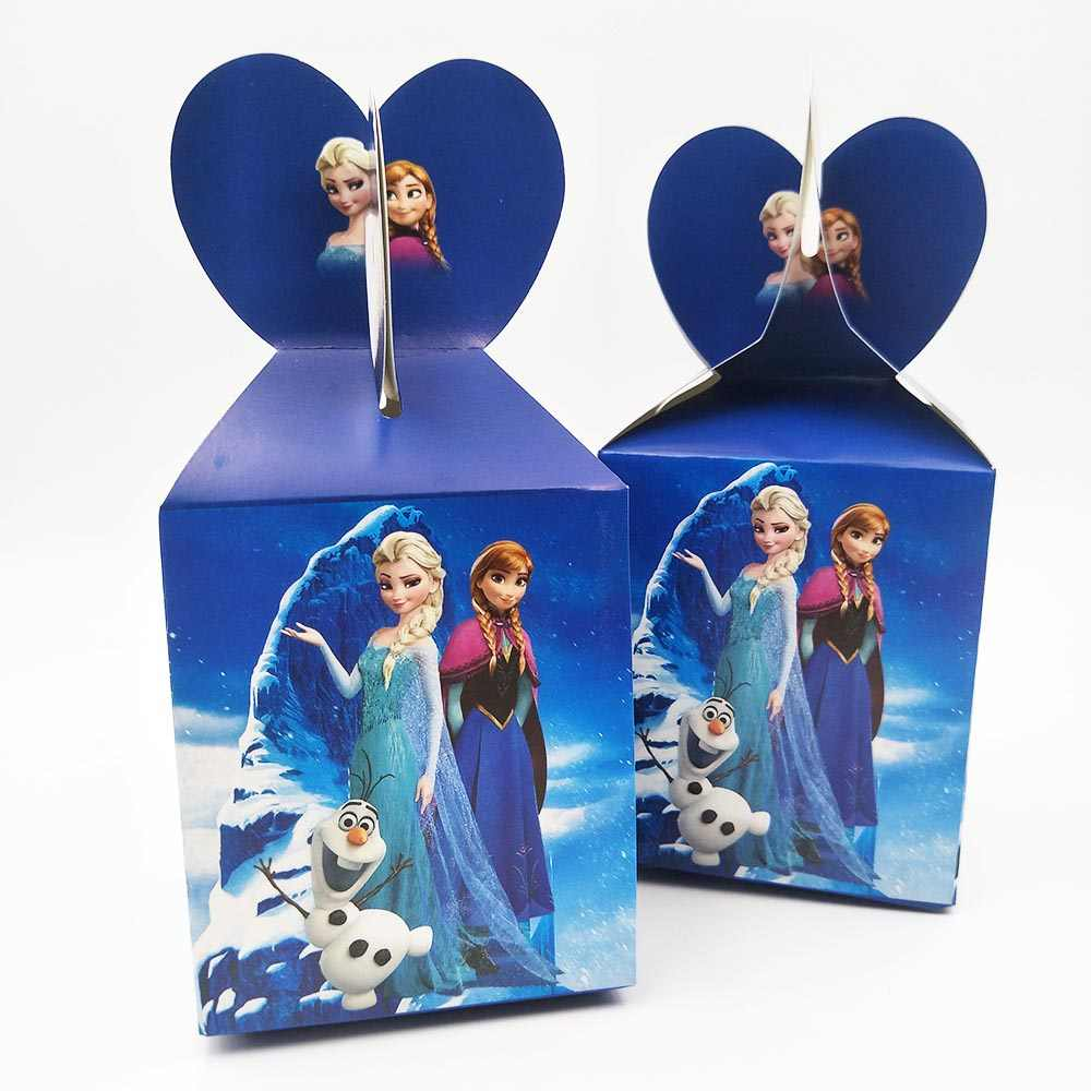 Disney Congelado Princesa Anna Elsa Bandeiras Decoração Toalha de Mesa da Festa de Aniversário Palhas Copos Pratos Doces caixa de Pipoca partido Congelado