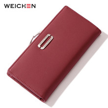 WEICHEN зажим сотовый телефон карман для женщин кошелек держатель для карт Женский Дамы Длинный клатч высокое качество модные Carteras
