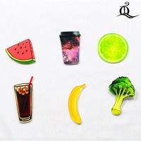 1 PCS Cartoon Badge Icons on The Pin Acrylic Badges Badges for Clothing Kawaii Brooches Pvc Brooch,fruit on cloth and bag 62
