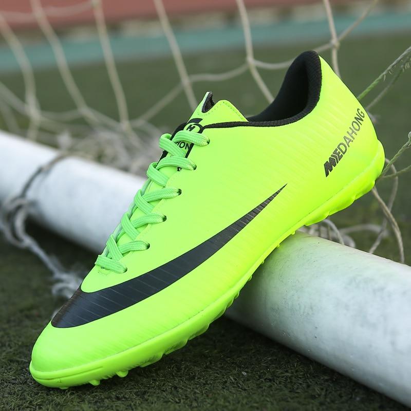 2019 Soccer Shoes Professional Football Boots Suferfly Cheap Futsal Sock Cleats Training Sport Sneakers Zapatos De Futbol Child(China)