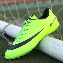 2019 Soccer Shoes Professional Football Boots Suferfly Cheap Futsal Sock Cleats Training Sport Sneakers Zapatos De Futbol Child(China)
