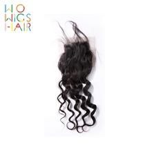 WoWigs Hair Loose Wave Lace Closure Remy Natural Color 100% Human Free Shipping