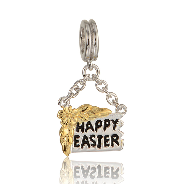 Pandulaso sterling silver jewelry happy easter golden beads fit pandulaso sterling silver jewelry happy easter golden beads fit original charms bracelets for women negle Image collections