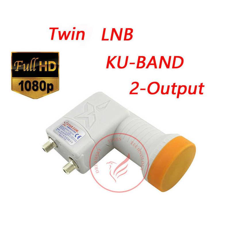 Satellite numérique HD double double LNB SR-3602 MINI sortie universelle numérique Full HD 0.1db LNB LNBF, bande KU 2 sorties LNB