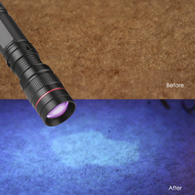 Portable Zoomable LED UV Flashlight 395nm Purple Ultra Violet Light Blacklight UV Torch Lamp AA/14500 Battery