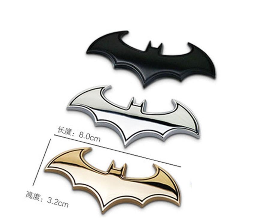 3D Metal Bat Batman Front Rear Emblem Badge Sticker Decal for Mazda Car Styling