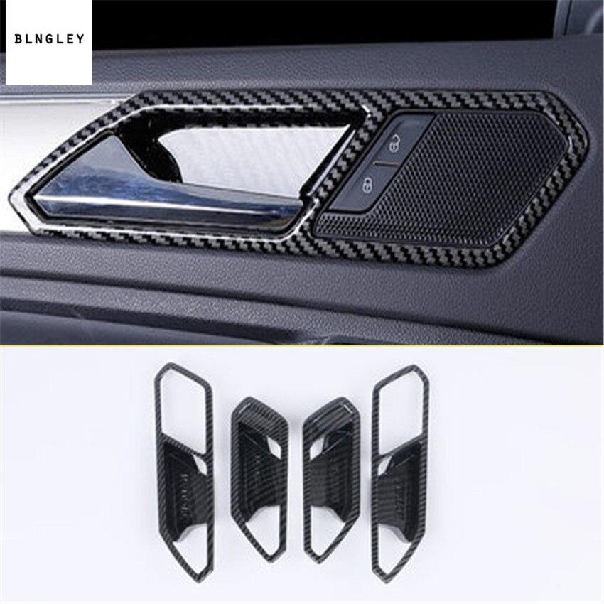 4 pcs/lot autocollants de voiture de décoration de poignée de porte intérieure pour Volkswagen VW Tiguan MK2 Tiguan L 2017-2018