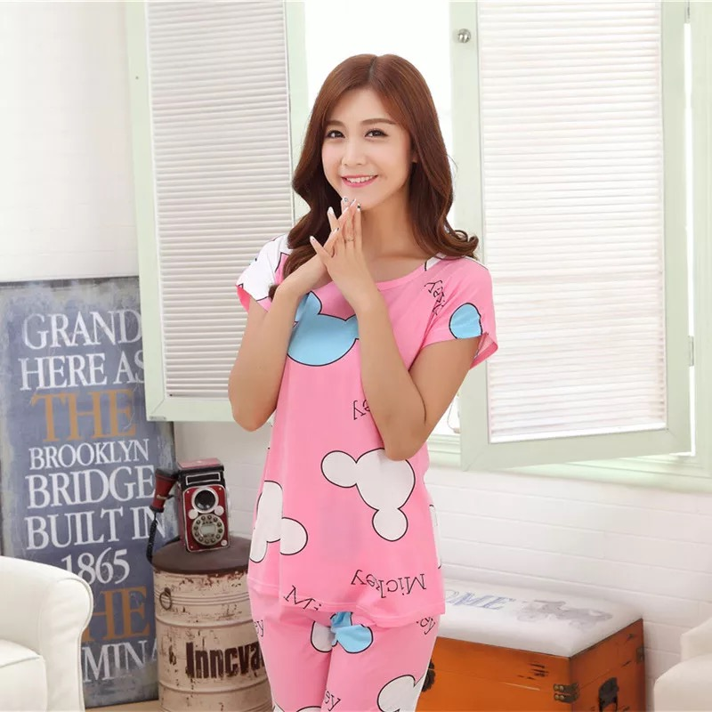 New Listing Sale 2018 Spring Pyjamas Women Carton Cute Pijama Pattern   Pajamas     Set   Thin Pijama Mujer Sleepwear   pajama   Wholesale