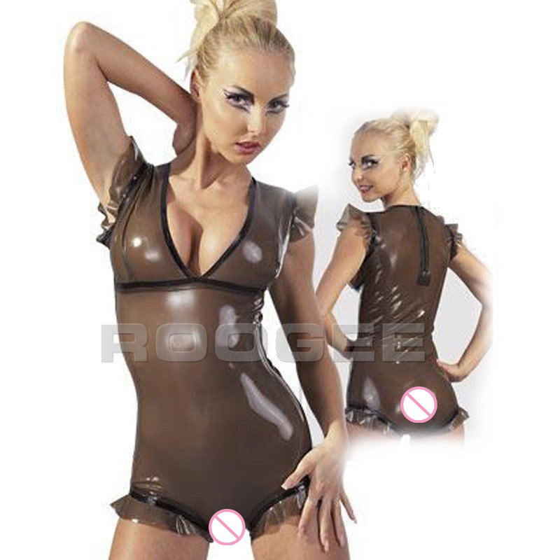 Short Collants Trasaprent Femelle Trasparent Noir Combinaisons Latex En De Black J1TKc3lF